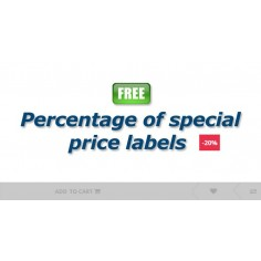 Percentage of special price free module for Opencart logo