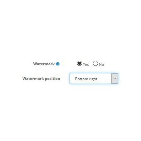Watermark PRO module for Opencart settings control panel