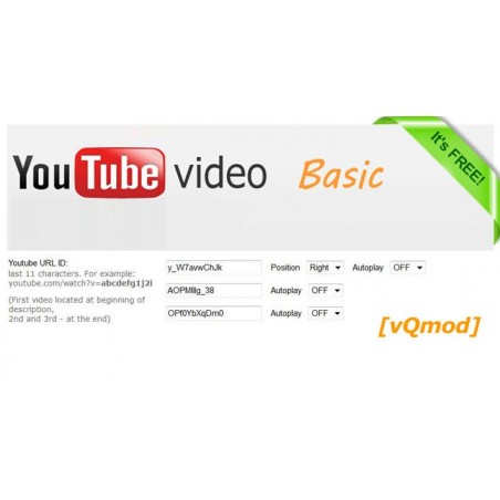 Youtube Video FREE module for opencart download