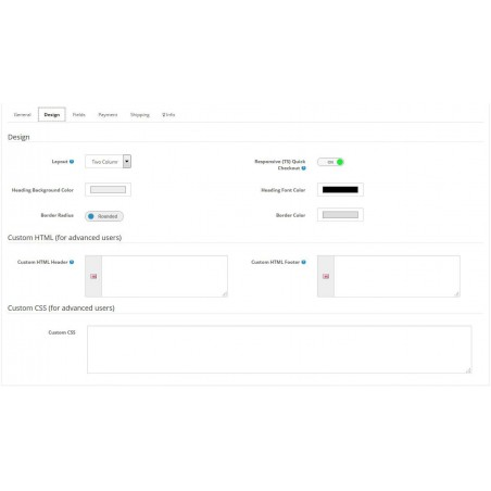 Quick Checkout module for Opencart setup